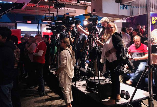 Local media were all on hand along with the national press, however the Liberal leader did not take any questions.