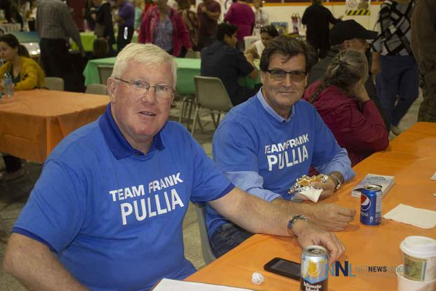 Team Pullia takes a break at the Terrace Bay Fall Market