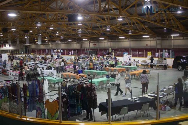 The arena is filling up with visitors at the Terrace Bay Fall Market