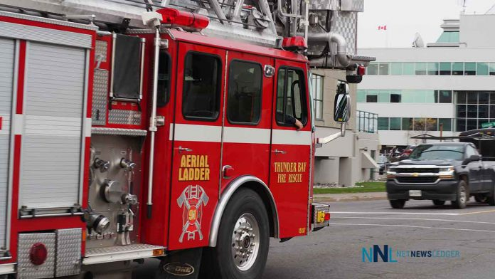 Thunder Bay Fire Rescue Aerial Ladder Unit