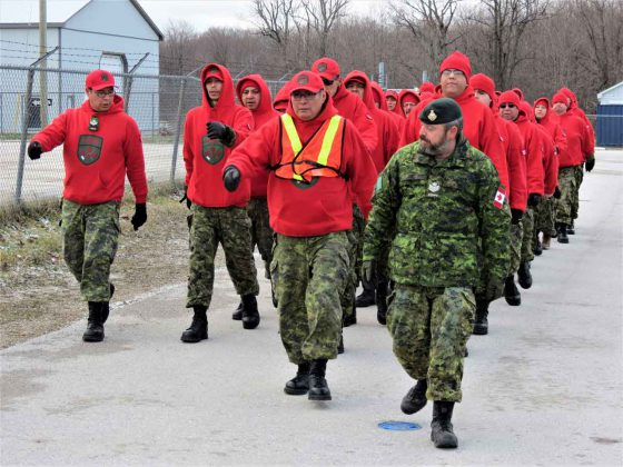 Canadian Rangers learn how to march in formation - Photo Sgt Peter Moon