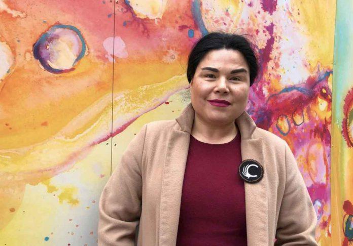 Jenn Harper, founder of the indigenous women's social enterprise 'Cheekbone Beauty', poses for a photo in Toronto, Canada on 16 January 2020. Thomson Reuters Foundation/Belinda Goldsmith