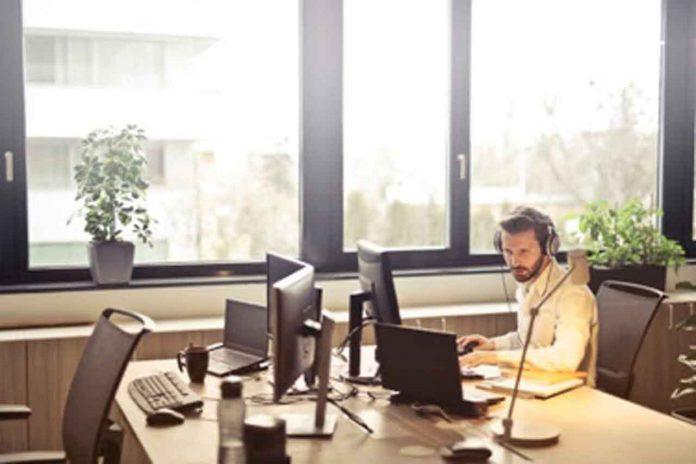 Man at Desk Writing