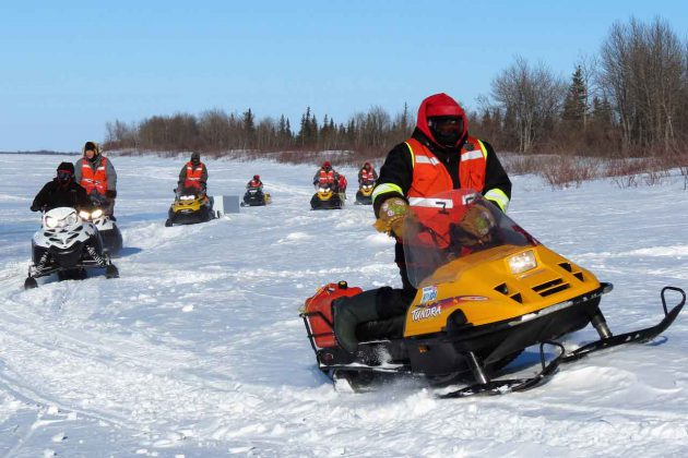 Canadian Rangers conduct search and rescue training near Moose Factory.