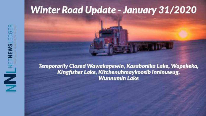 Winter Road Update January 31 2020