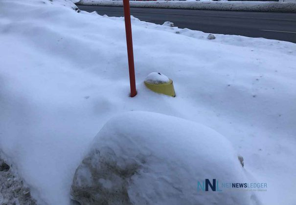 Fire Hydrant Buried under the snow on Cumberland Street North