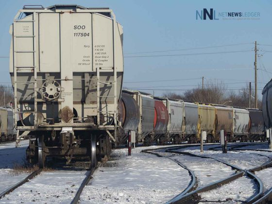 CN Rail cars in Thunder Bay
