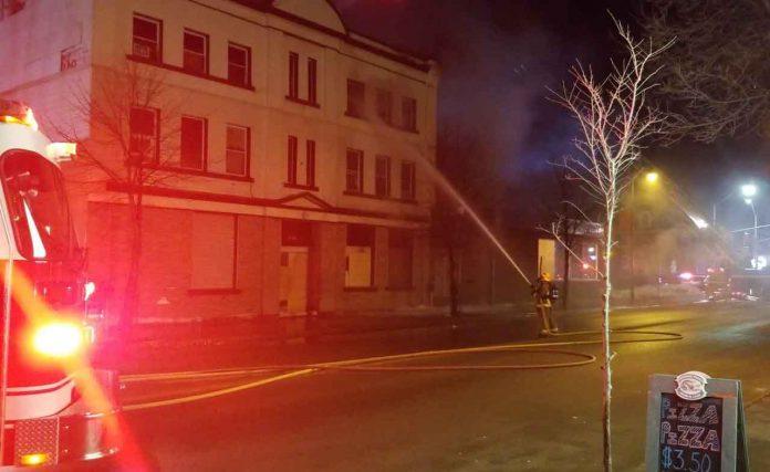 Oddfellows Hall Fire Image by Derek Silver