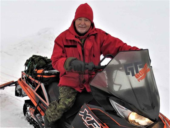 Master Corporal Gaetan Goulet of the Long Lake No. 58 patrol taught the soldiers how to improve their snowmobile skills.