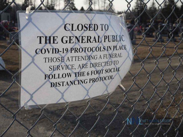 Cemeteries are closed