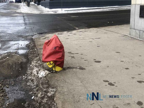 Fire Hydrant Out of Service on Cumberland Street by the Whalen Building