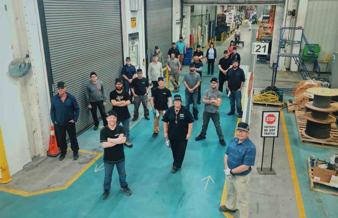 Thunder Bay Bombardier Team manufacturing ventilators