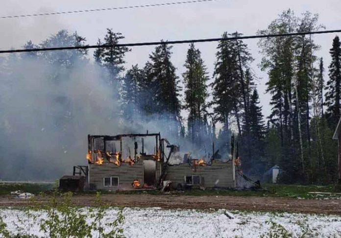 Fire Destroys Home in Muskrat Dam - Image Facebook