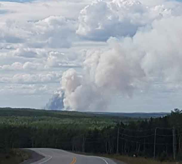 Red Lake 49 is located approximately two kilometres northeast of Madsen. The five hectare fire (not under control) was receiving aerial suppression from water bombers