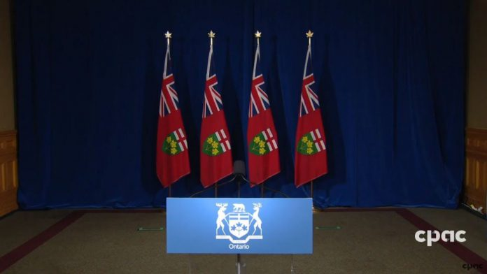 Ontario press conference Doug Ford