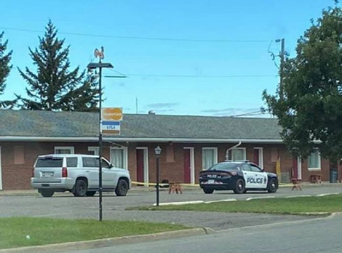 Police and Forensic Unit on scene at Kingsway Motel