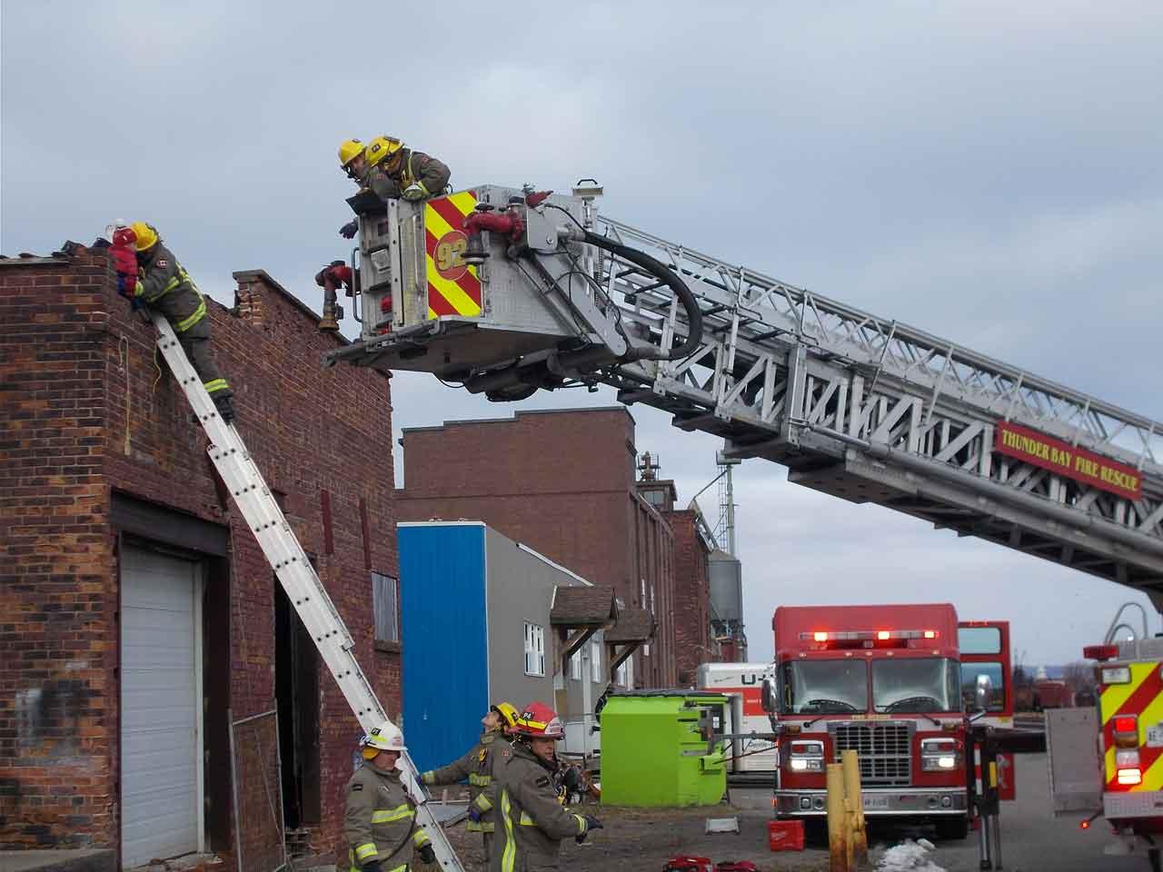 Thunder Bay Fire Rescue on Hardisty Street
