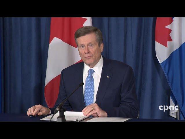 Mayor John Tory - Toronto