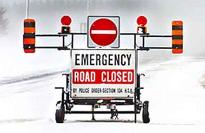 Emergency Road Closure