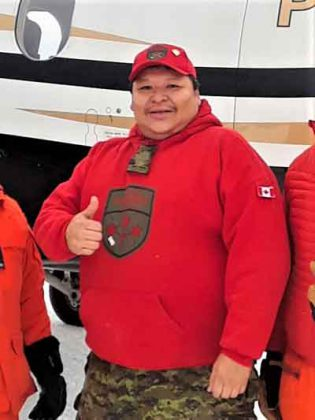 Sergeant Spencer Anderson assisted in successful search. credit Canadian Rangers