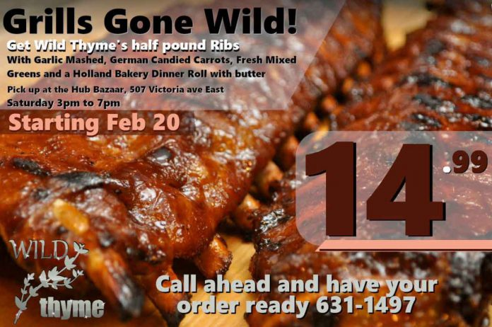 Grills Gone Wild at Wild Thyme at the Hub Bazaar in the heart of downtown Fort William