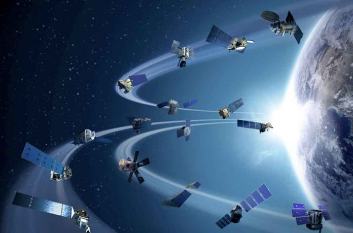 An illustration showing some of the many NASA satellites in Earth orbit Credits: NASA