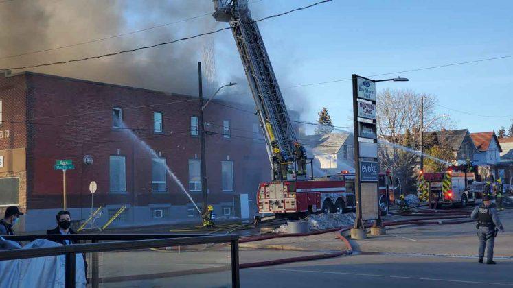 Thunder Bay Fire Rescue on scene - Image NNL NewsHawk