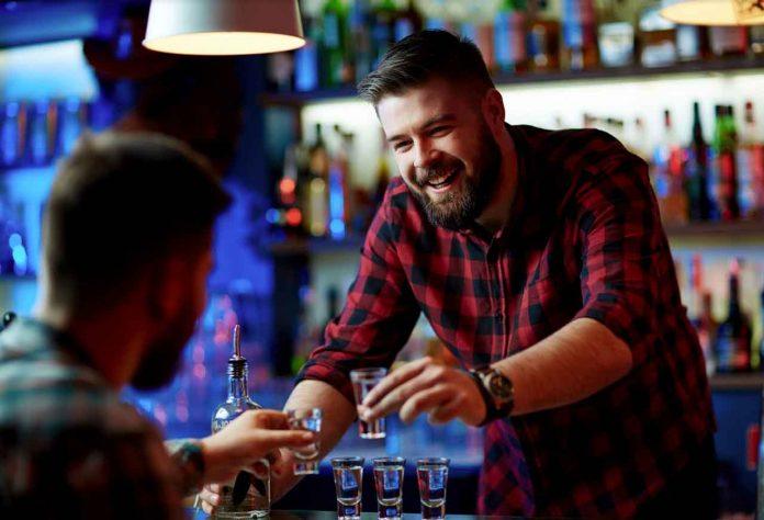 Man at a bar