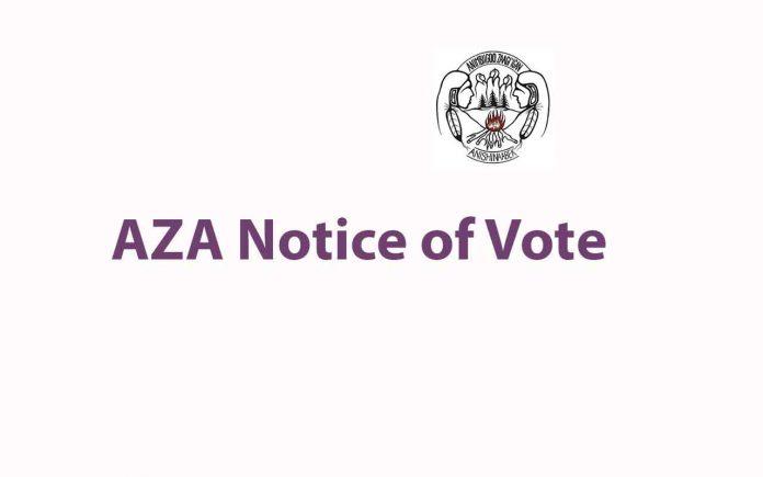 AZA Notice of Vote