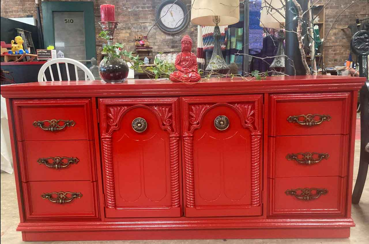 The Red Bicycle's Famous Red Furniture