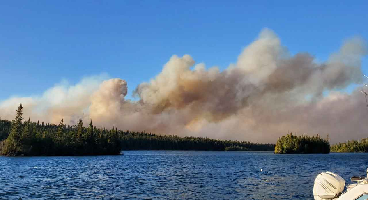 Isle Royale Fire