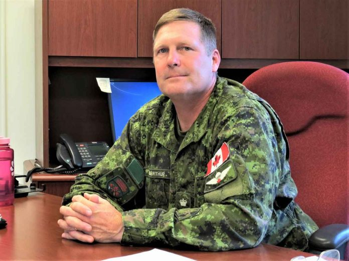 Lieutenant-Colonel Shane McArthur commands the Canadian Rangers in Northern Ontario. credit Sergeant Peter Moon, Canadian Rangers